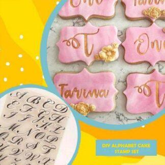 DIY Σετ στάμπας αλφαβήτου για κέικ