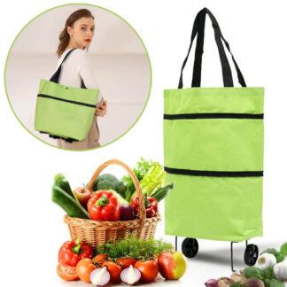 Πτυσσόμενη τσάντα για ψώνια με ρόδες