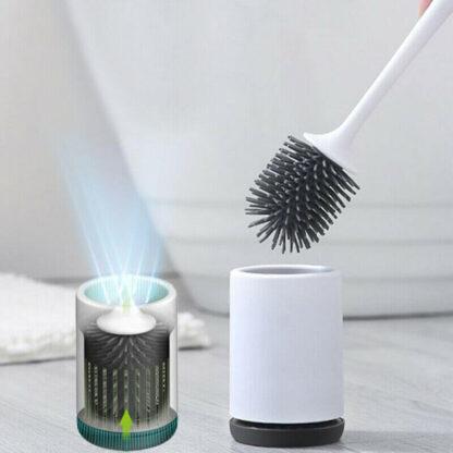 Perie wc din silicon cu suport